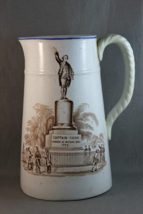 Rare Captain Cook Porcelain Jug,