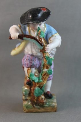 19th Century Meissen Porcelain Figure,