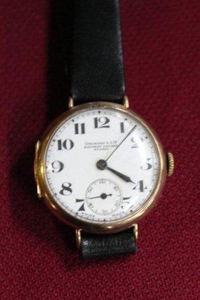 Rose Gold Wristwatch, C 1920,
