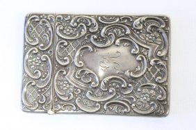 Edwardian Sterling Silver Cigarette Case,
