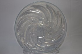 "Rene Lalique ""poissons"" Opalescent Charger,"