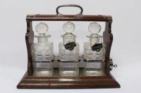 Edwardian Three Bottle Tantalus,