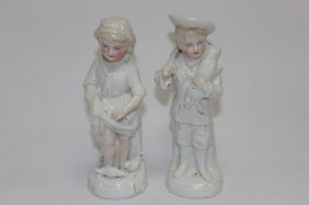Pair Of Nineteenth Century Porcelain Figures,