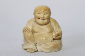 Well Carved Chinese Ivory Buddha,