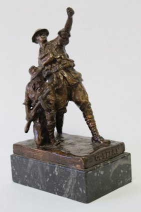 Wallace Anderson Bronze Sculpture 'cobbers',