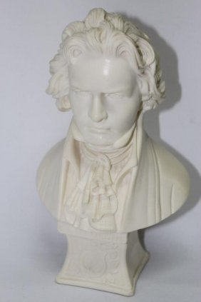 Alabaster Bust Of Beethoven,