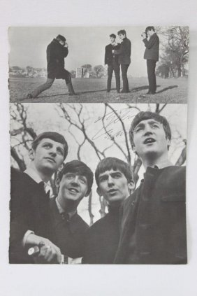 Signed Magazine Photo, John Lennon,