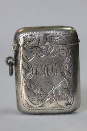 Two Silver Vesta Cases,