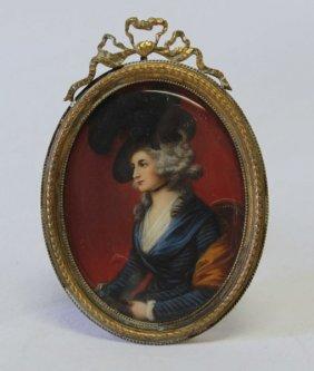 Beautiful 19th Century Miniature On Ivory,