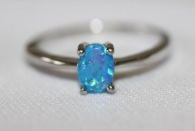 Opal And Silver Ring,