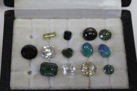 Thirteen Various Loose Gemstones,