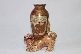 Satsuma Figural Vase,