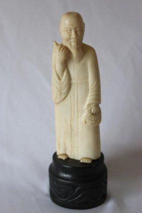Chinese Bone Figure,