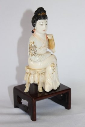 Chinese Carved Ivory Figure, C.1930