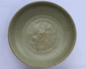 Chinese Ming Dynasty Celadon Dish,