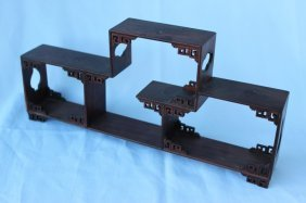 Chinese Wooden Petite Display Stand,