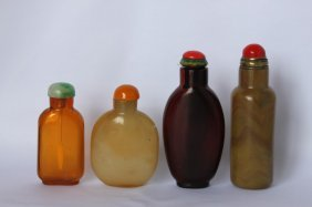 Four Chinese Glass Snuff Bottles,