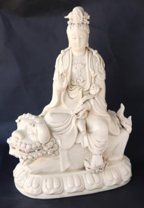 Chinese Blanc De Chine Figure Group,