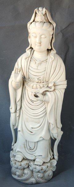 Large Chinese Porcelain Figure Of Kwan Yin,