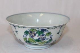 Chinese Porcelain Doucai Bowl,