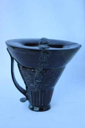 Chinese Horn Libation Cup,