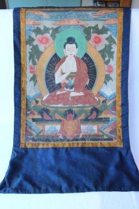 Tibetan Thangka Of Shakyamuni Buddha,