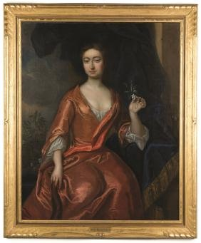 Attr. To Sir Peter Lely (british, 1618-1680) Portrait