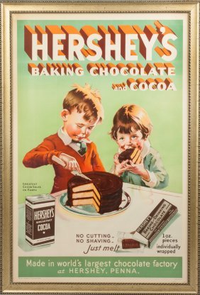Vintage Hershey's Baking Chocolate & Cocoa Poster