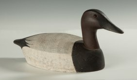 Ken Harris, Woodville, Ny, Carved & Painted Duck Decoy