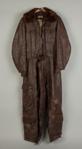 Vintage Leather Flying Pilot Suit