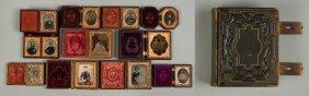 Group Of 11 Miscellaneous Vintage Photos & Cdv Book