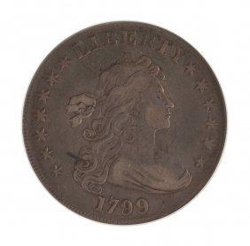1799 One Dollar 13 Star Draped Bust Heraldic Eagle