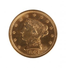 1852 Liberty Head Two Dollar Fifty Cents