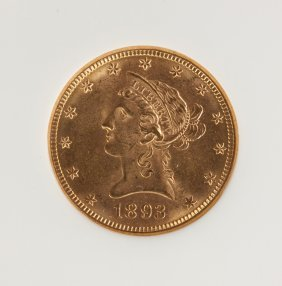 1893-o Liberty Head Ten Dollar