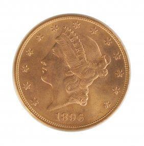 1896-s Liberty Head Twenty Dollar