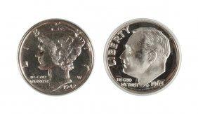Mercury & Cameo Ten Cent Coins