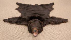 Vintage Black Bear Rug
