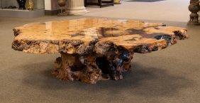 Modern California Burl Coffee Table