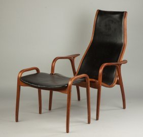 Yngve Ekstro?m Lamino Chair And Ottoman For Swedese