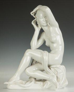 Robert Ullman (austrian, 1903-1966) Porcelain Seated