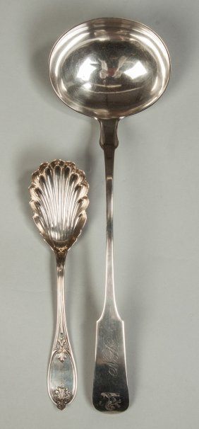 Sterling Silver Berry Spoon & Large Ladle