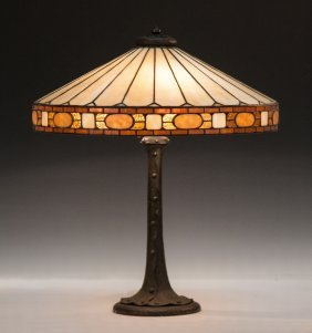 Duffner & Kimberly Arts & Crafts Leaded Glass Lamp