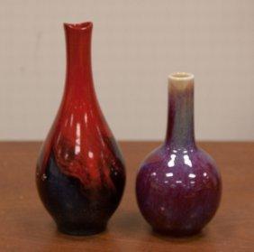 Two Flambe Vases