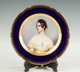 """""""lady Milbanks"""" Hand Painted Porcelain Plate"""