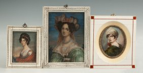 Three Continental Miniature Paintings