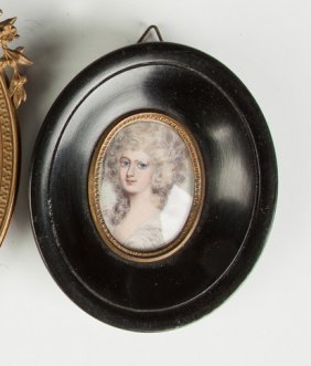 Miniature Painting Of A Young Lady