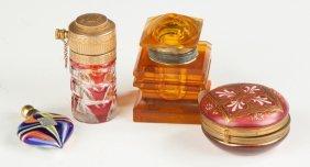 Atomizer, Pillbox, Inkwell & Perfume