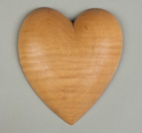 Wendell Castle (american, Born 1932) Carved Maple Heart