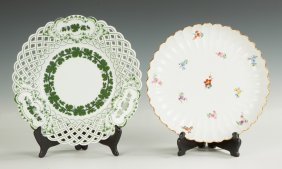 Two Hand Painted Meissen Plates