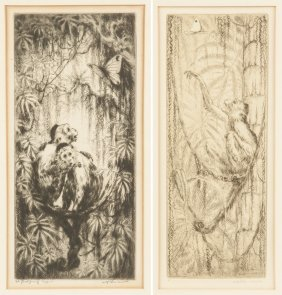 Will Simmons (american, 1884-1949) Two Engravings Of